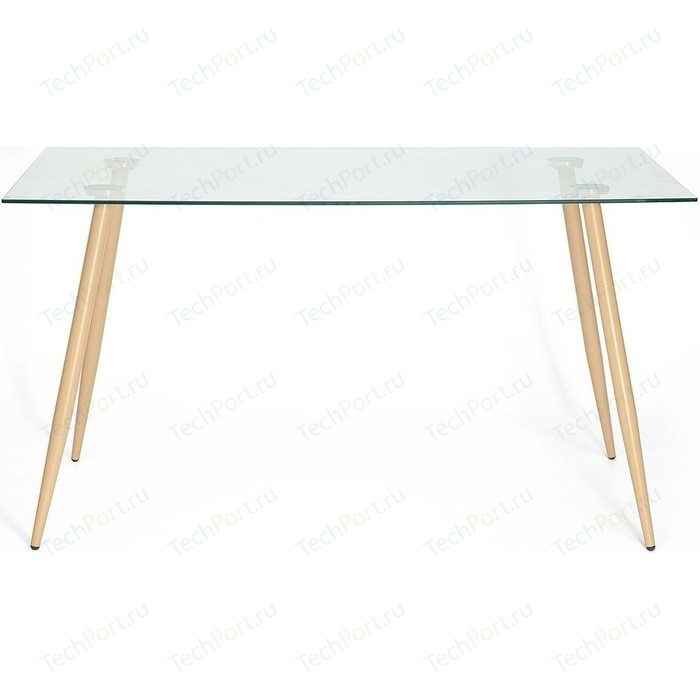 Стол TetChair SOPHIA (mod. 5003) металл/стекло (8мм) бук/прозрачный