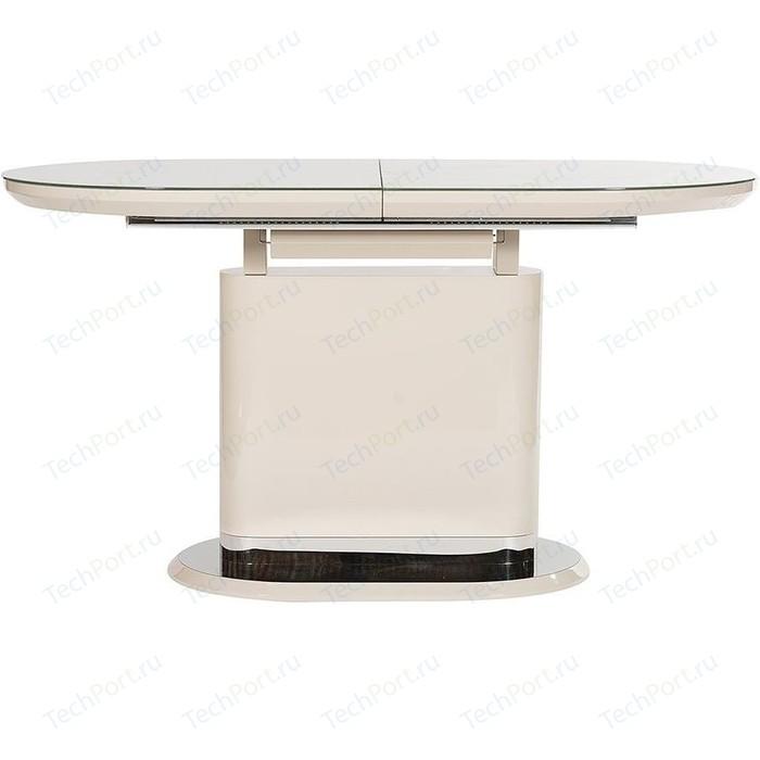 Стол TetChair ERFURT ( mod. DT0705 ) мдф high gloss закаленное стекло слоновая кость/хром clueso erfurt