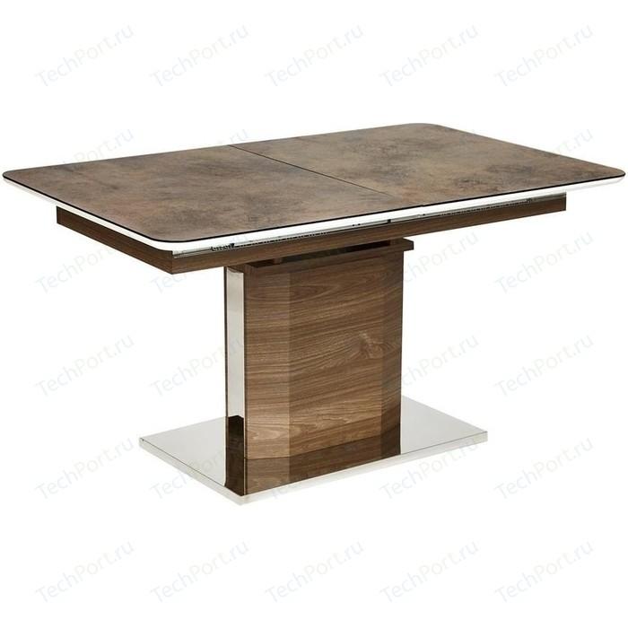 Стол TetChair RADCLIFFE (mod. EDT-VG002) коричневый, стекло burning stone стол tetchair brugge mod edt ve001 120 150х80х75 см