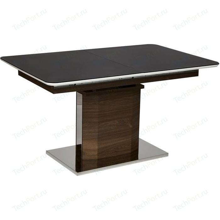 Стол TetChair RADCLIFFE (mod. EDT-VG002) коричневый, стекло черное стол tetchair brugge mod edt ve001 120 150х80х75 см