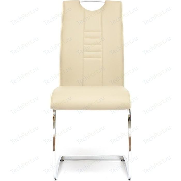 Стул TetChair STERN (mod.1314) ножки хром, сиденье и спинка пепельно-коричневый/белый