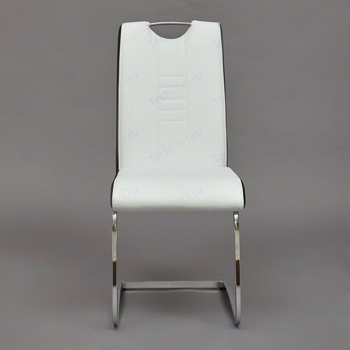 Стул TetChair STERN (mod.1314) ножки хром, сиденье и спинка черный/белый