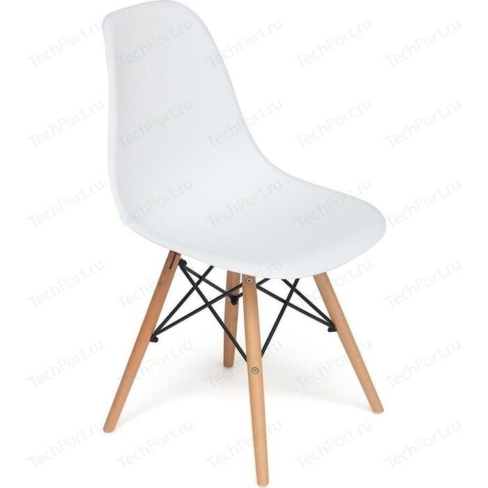 Стул TetChair Secret De Maison CINDY (EAMES) (mod. 001) дерево натуральный, металл черный, сиденье белый white