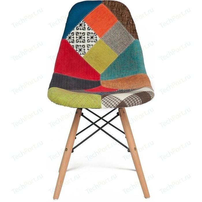 Стул TetChair Secret De Maison CINDY SOFT (EAMES) (mod. 023) дерево береза/металл/мягкое сиденье/ткань мультицвет