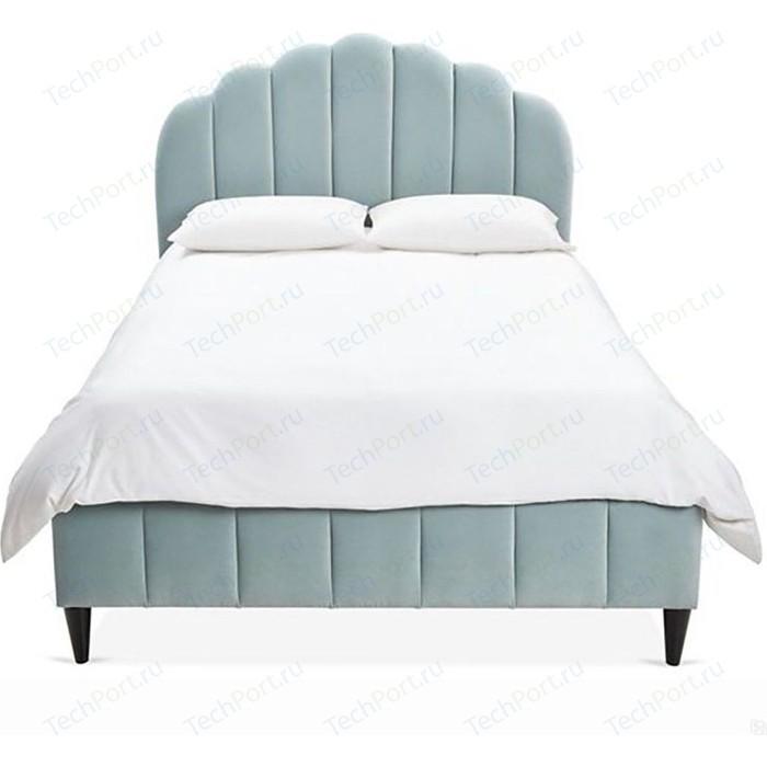 Кровать Euroson Ariel Channel 160x200 YD-18B (велюр голубой)+ортопед