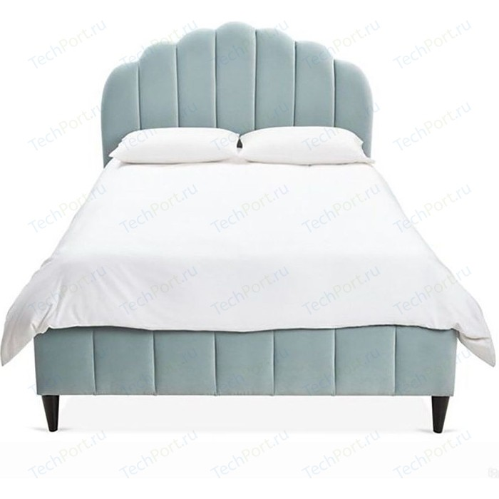 Кровать Euroson Ariel Channel 180x200 YD-18B (велюр голубой)+ортопед