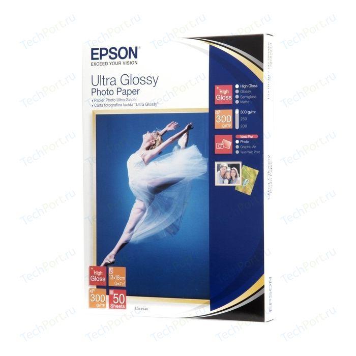 Фотобумага Epson Ultra Glossy A6 50 листов (C13S041943)