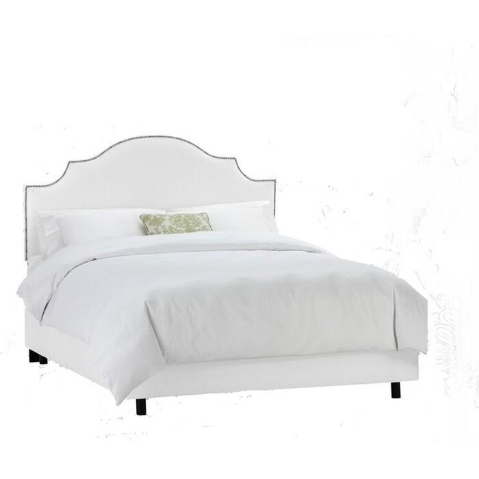 Кровать Euroson Julianna California 160x200 Bogemia white (велюр белый)+ортопед