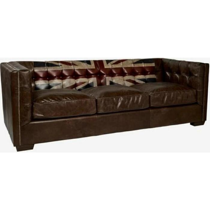 Диван Euroson Rebel Vintage Sofa XS-077 (натуральная итальянская кожа Cigar)