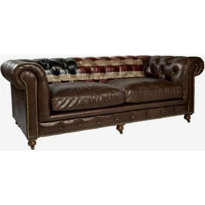 Диван Euroson Rebel Vintage Sofa XS-08 (натуральная итальянская кожа Cigar)