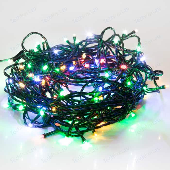 Фото - Светодиодная гирлянда Neon-Night Твинкл-Лайт 20 м, темно-зеленый ПВХ, 160 LED, мультиколор гирлянда свечи 6м темно зеленый пвх 30 led тепло белые