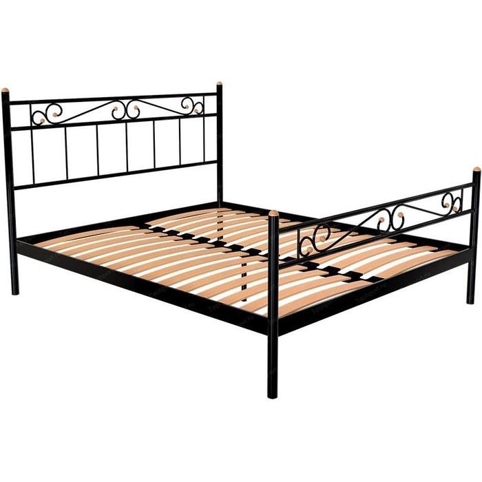 Кровать Стиллмет Эсмеральда коричневый 8019 140x200