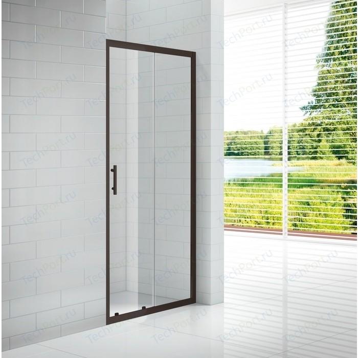 Душевая дверь Cezares Eco BF-1 120x190 прозрачный, черный (ECO-O-BF-1-120-C-NERO)