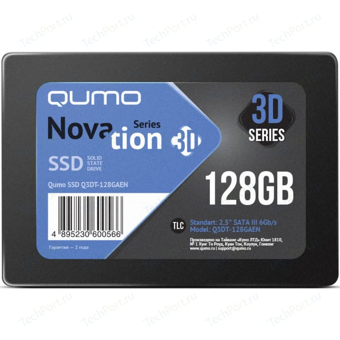 SSD накопитель Qumo SSD 128GB QM Novation Q3DT-128GAEN