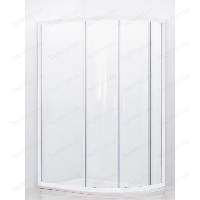 Душевой уголок Cezares Relax 100x80 Punto, белый (RELAX-RH-2-100/80-P-Bi)