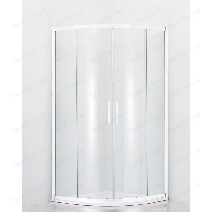 Душевой уголок Cezares Relax 80x80 прозрачный, белый (RELAX-R-2-80-C-Bi)