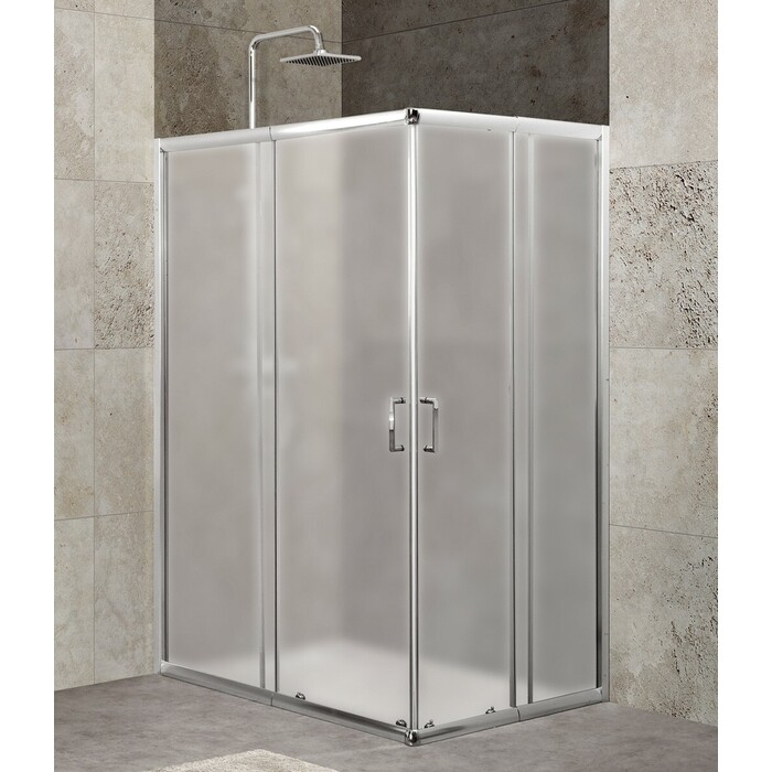 Душевой уголок BelBagno Unique 115x90 Punto, хром, (UNIQUE-AH-2-100/115-75/90-P-Cr)