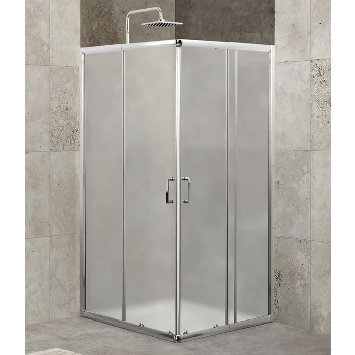 Душевой уголок BelBagno Unique 90x90 Punto, хром, (UNIQUE-A-2-75/90-P-Cr)