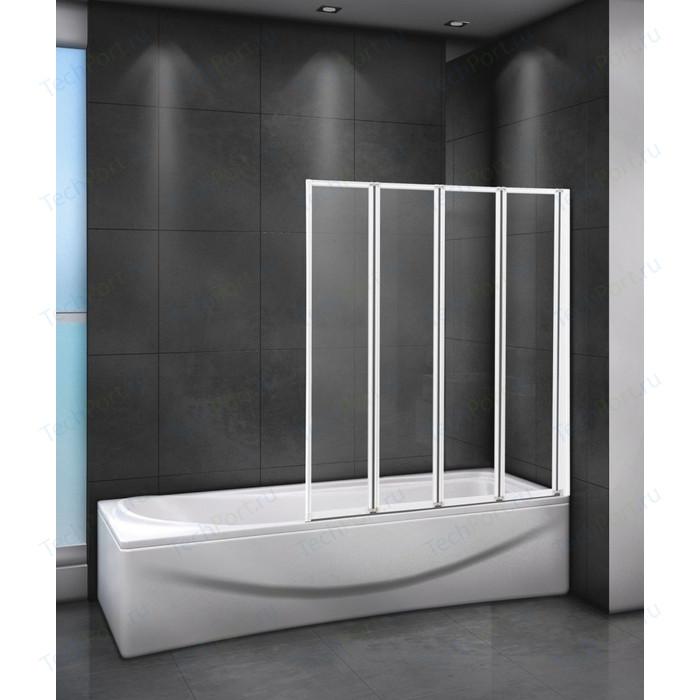 Шторка для ванной Cezares Relax 80x140 Punto, белая, правая (RELAX-V-4-80/140-P-Bi-R)