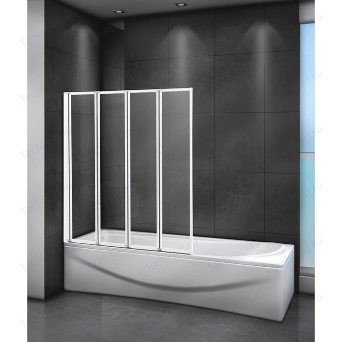 Шторка для ванной Cezares Relax 80x140 Punto, белая, левая (RELAX-V-4-80/140-P-Bi-L) недорого