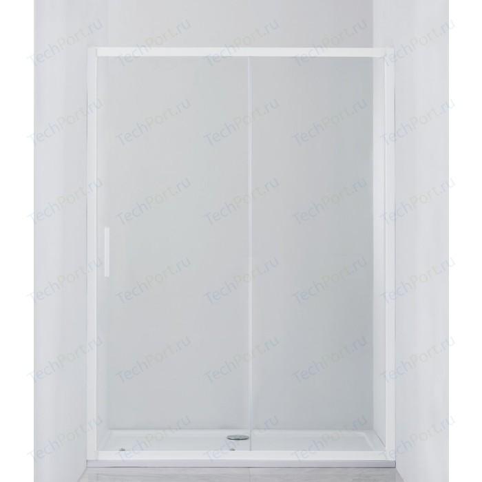 Душевая дверь Cezares Relax 130x185 прозрачная, белая (RELAX-BF-1-130-C-Bi)