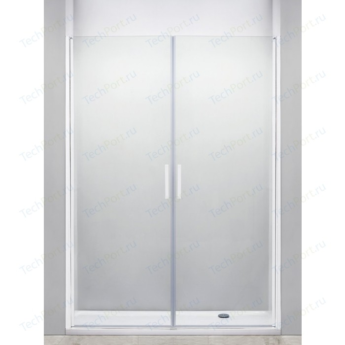 Душевая дверь Cezares Relax 180x185 прозрачная, белая (RELAX-B-2-180-C-Bi)