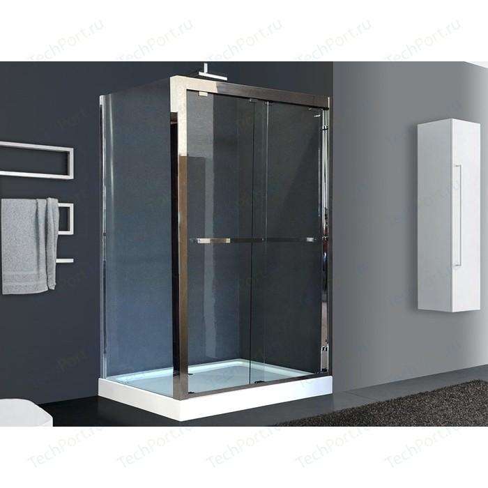 Душевой угололок Royal Bath 140x90 прозрачный, зеркальный глянец, правый (RB-L-2011-1400-9R)