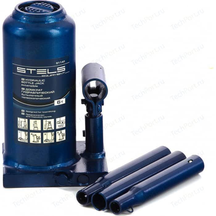 Домкрат гидравлический бутылочный Stels 6т 190-480мм (51141)