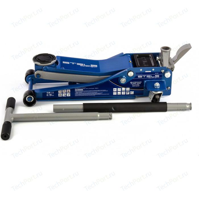 Домкрат подкатной гидравлический Stels 3т 75-505мм с педалью (51137)