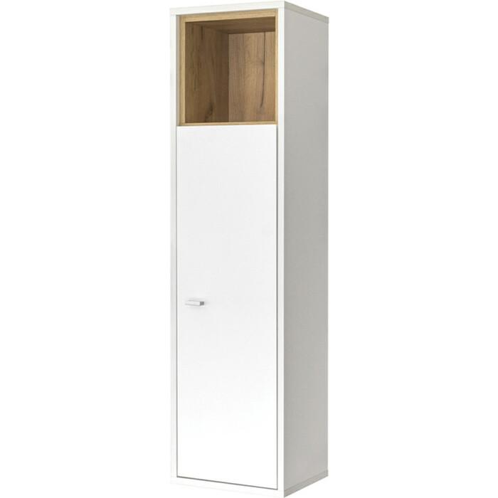Шкаф навесной Моби Бэль 10.63 дуб крафт золотой/белый премиум (универсальная сборка, два варианта подвешивания) шкаф моби альба дуб золотой белый премиум пенал
