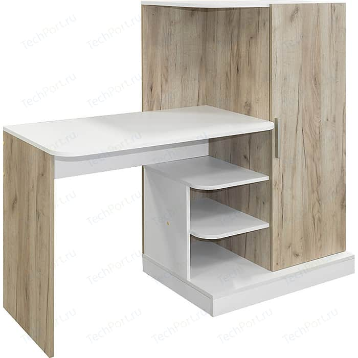 Стол письменный Моби Лайт 03.247 дуб крафт серый/белый премиум
