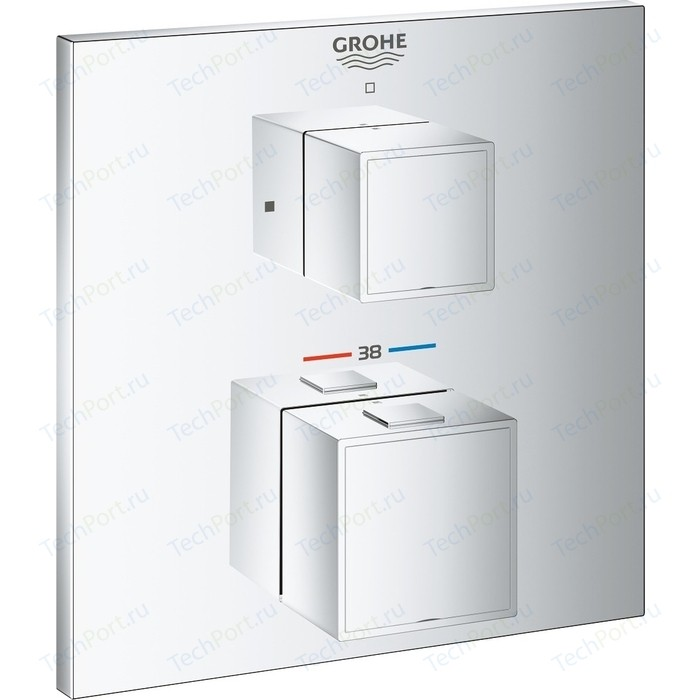 Термостат для душа Grohe Grohtherm Cube встраиваемый, 35600000, хром , с механизмом (24153000, 35600000)