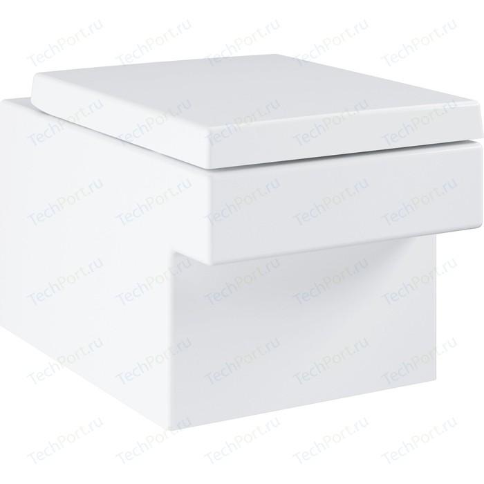 Унитаз подвесной Grohe Cube Ceramic с покрытием PureGuard, сиденье микролифт (3924500H, 39488000) унитаз подвесной grohe cube ceramic с покрытием pureguard 3924500h
