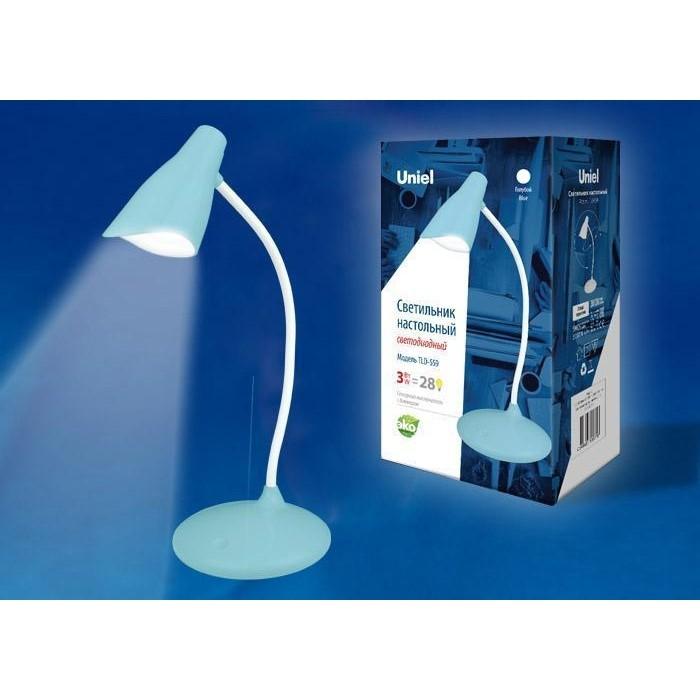 Настольная лампа Uniel TLD-559 Blue/LED/280Lm/5000K/Dimmer