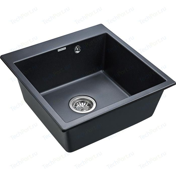 Кухонная мойка Paulmark Praktisch черный металлик (PM105152-BLM)