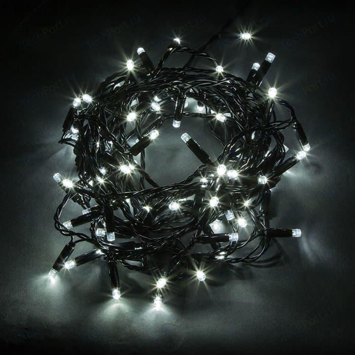 Светодиодная гирлянда Feron Линейная 230V 5000K холодный белый без мерцания CL43 32427 feron лампа люминесцентная feron линейная черная g5 6w 03714