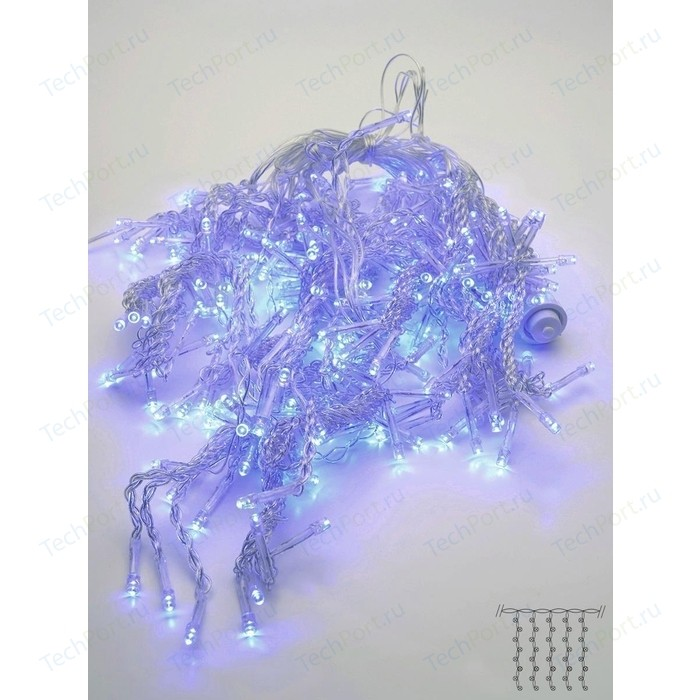 Светодиодный занавес Feron 230V синяя без мерцания CL18 32325