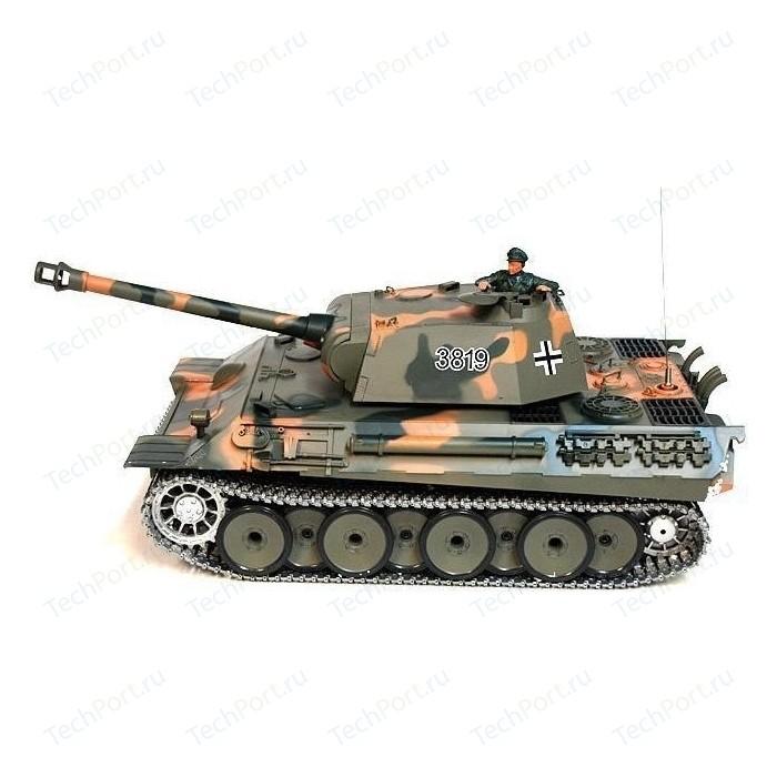 Радиоуправляемый танк Heng Long German Panther Pro масштаб 1:16 2.4G - 3819-1PRO V5.3 танк heng long dak pzkpfw iv ausf f 1 3858 1pro 1 16 40 3 см бежевый