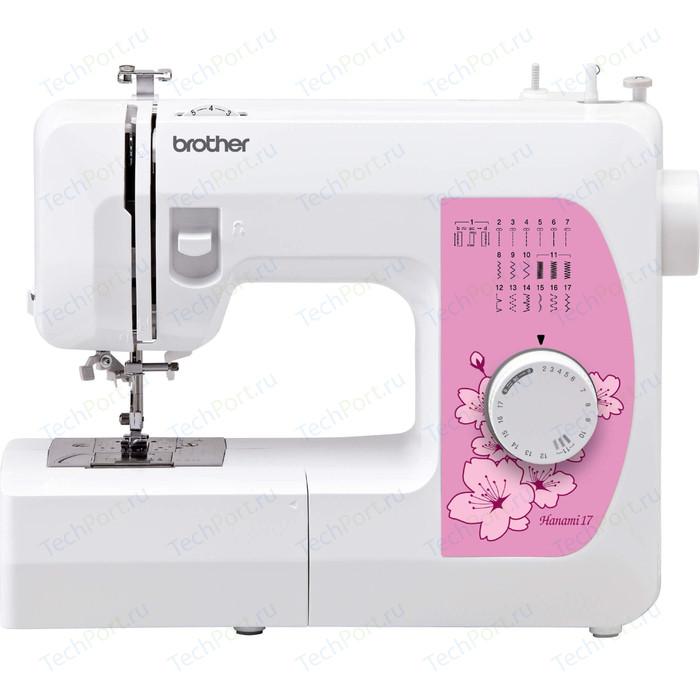 Фото - Швейная машина электромеханическая Brother Hanami 17 швейная машина brother hanami 17 бело розовый