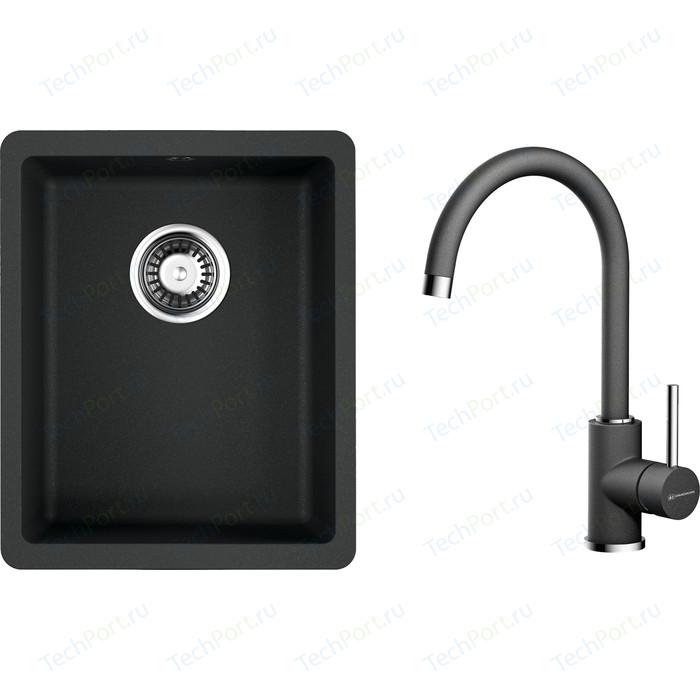Кухонная мойка и смеситель Omoikiri Kata 34-U-BL черный (4993382, 4994106)