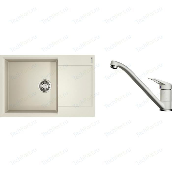 Кухонная мойка и смеситель Omoikiri Daisen 78-LB-PA пастила (4993688, 4994169)