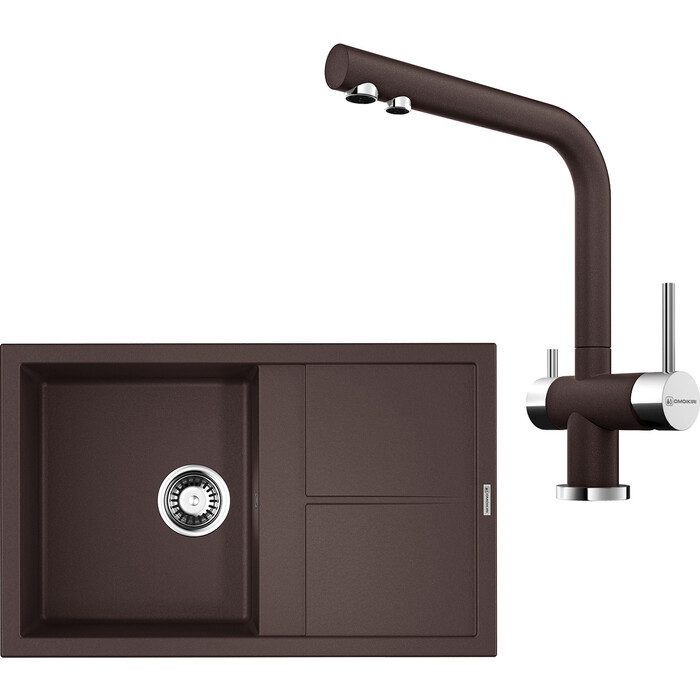 Кухонная мойка и смеситель Omoikiri Sumi 79-DC темный шоколад (4993666, 4994105)