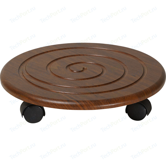 Подставка под цветы Калифорния мебель Спираль на колесах орех (2 шт)