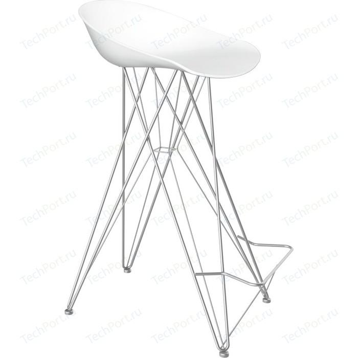 Барный стул Sheffilton SHT-ST19/S66 белый/хром лак