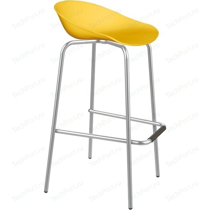 Барный стул Sheffilton SHT-ST19/S29 желтый/хром лак