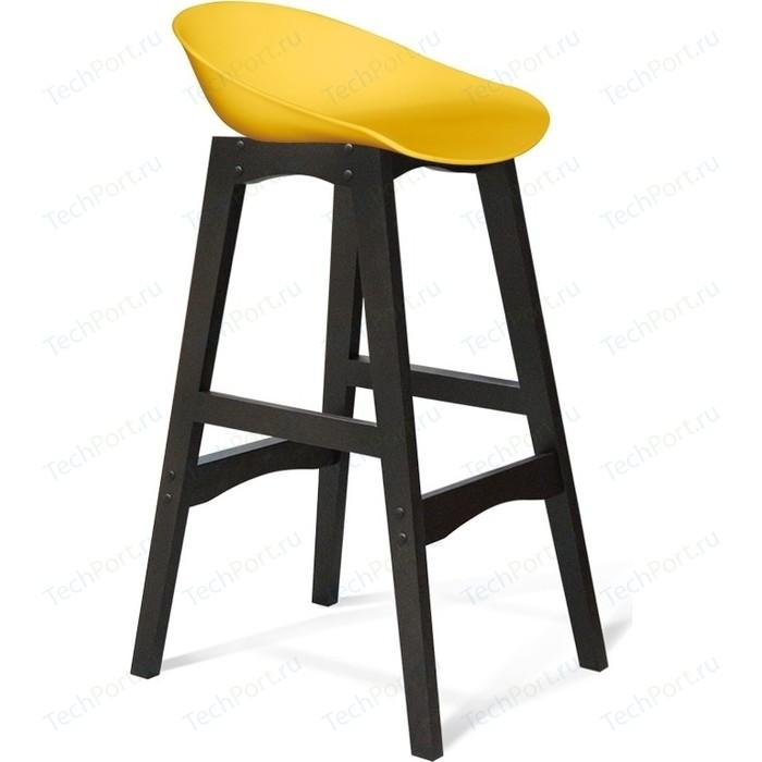 Барный стул Sheffilton SHT-ST19/S65 желтый/венге