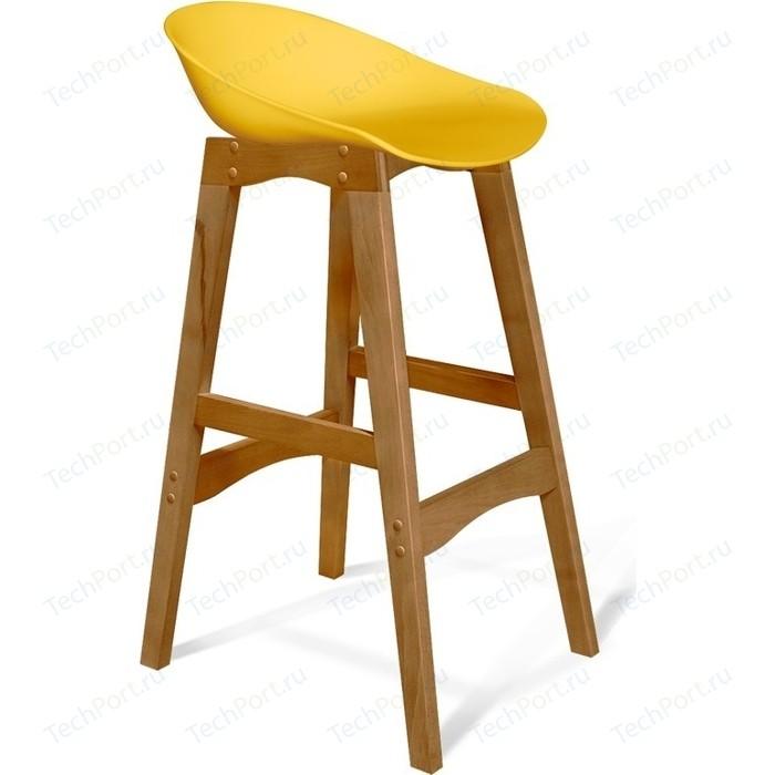 Барный стул Sheffilton SHT-ST19/S65 желтый/светлый орех