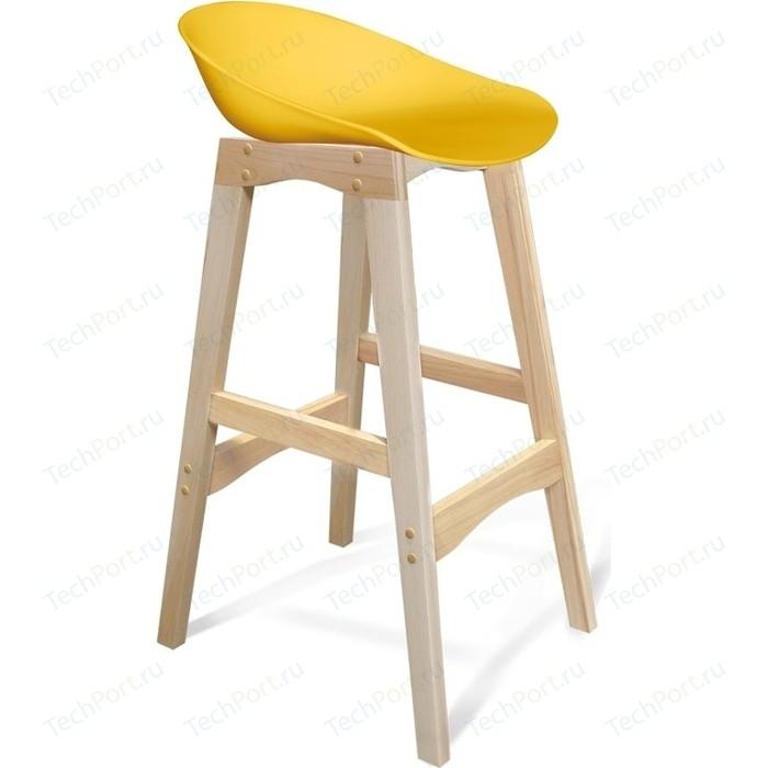 Барный стул Sheffilton SHT-ST19/S65 желтый/прозрачный лак
