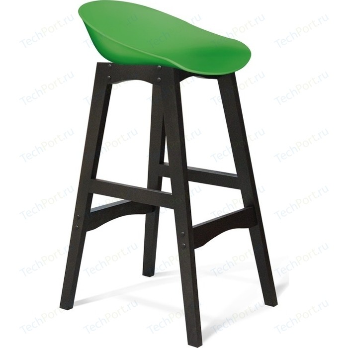 Барный стул Sheffilton SHT-ST19/S65 зеленый/венге