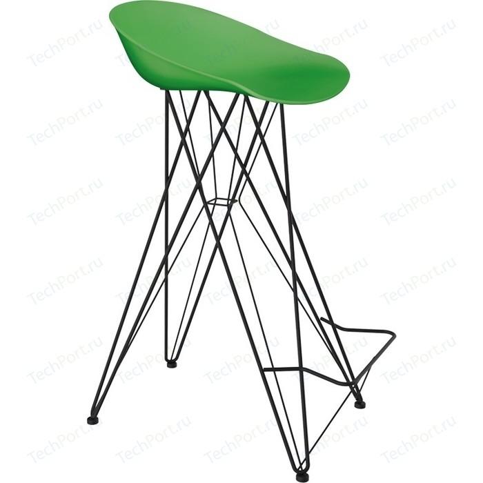 Барный стул Sheffilton SHT-ST19/S66 зеленый/черный муар